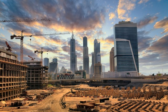 Grandiose construction in Dubai
